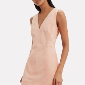 New with tags Intermix Pink Suede Mini Dress
